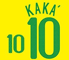 Kaka #10 Brazil World Cup 2010 Home Football Nameset for shirt