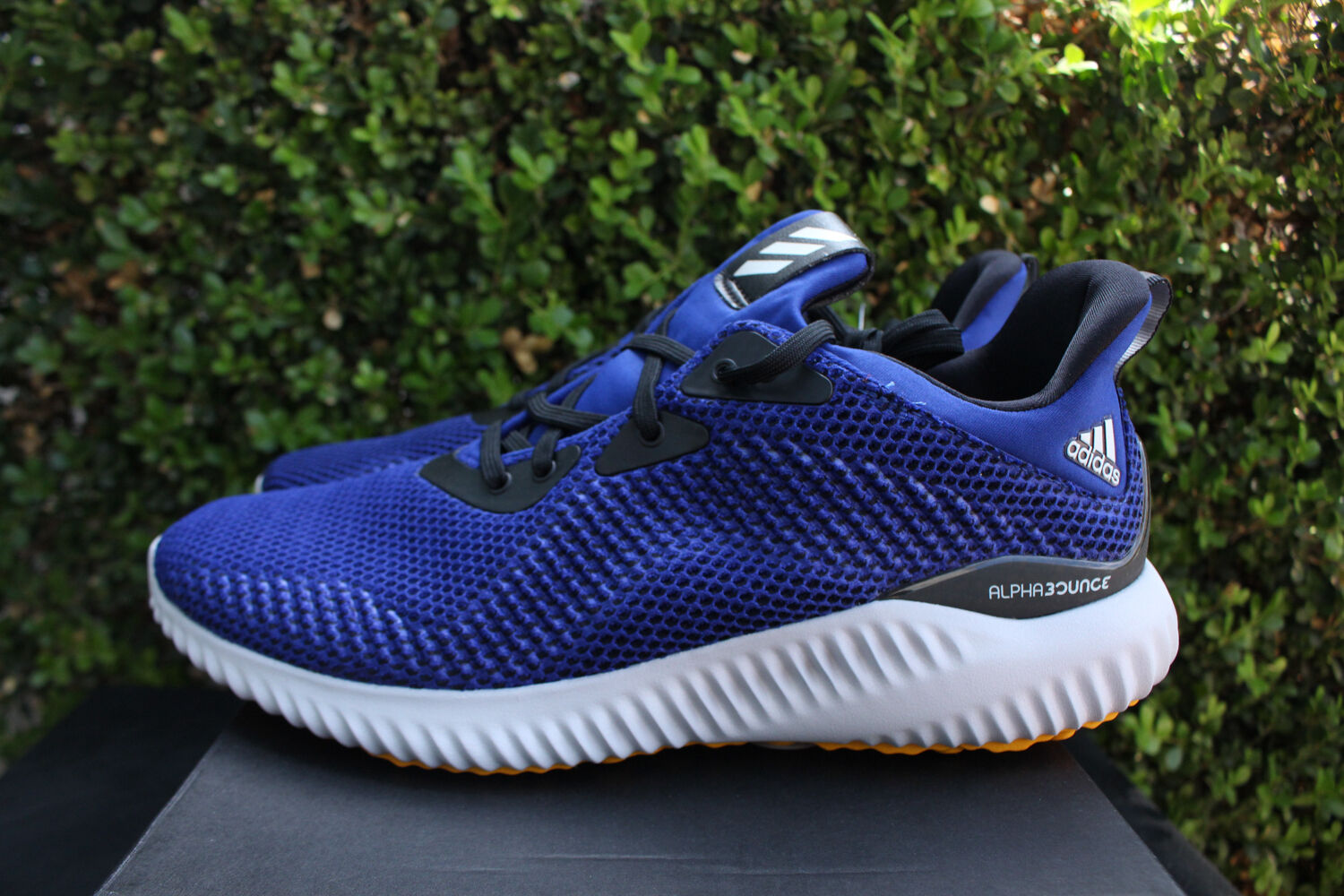 ADIDAS ALPHABOUNCE EM SZ 12 MYSTERY Chaussures INK CORE noir YELLOW RUNNING Chaussures MYSTERY BW1219 bffb3b