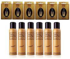 6 Wild Musk Oil Original Coty 0.2oz (5ml) + 6 Deodorant Wild Musk Coty Aero 90g