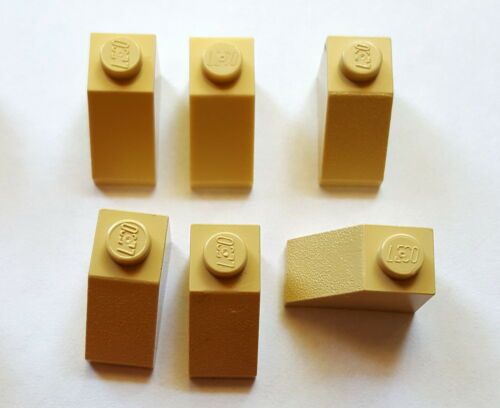 Lego Schrägsteine 3040 Dachsteine 45° 6 Stück 1x2x1 Beige//Tan  27