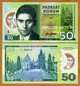 Czechoslovakia-50-Korun-2019-Private-issue-polymer-gt-Franz-Kafka