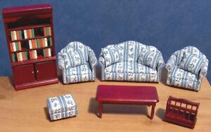 1/12, dolls house miniature Luxury Lounge / Living Room Sofa Furniture Set LGW