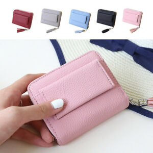 Ladies-Soft-Leather-Zip-Coin-Purse-Credit-Card-ID-Holder-With-RFID-Blocking-US