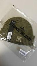 Stone Island Ribbed Beanie Hat In Green BNWT