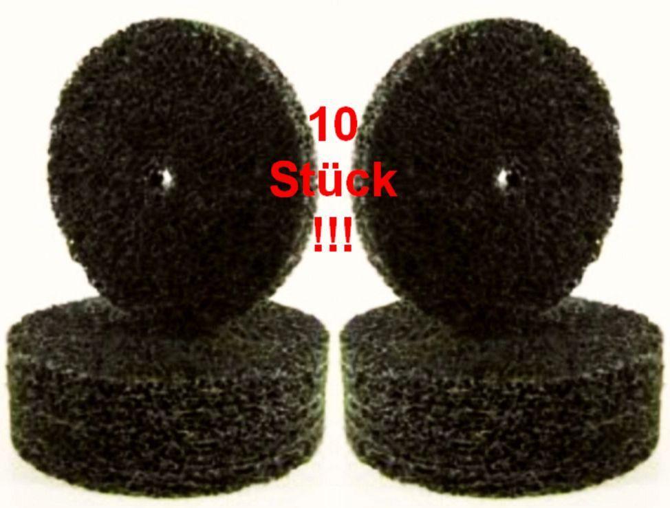 10 CSD-Gewebe-Schleifscheibe 100 x 13 schwarz COARSE Nylonkeks Reinigungsscheibe