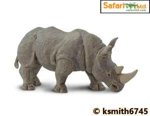 Le Prix Le Moins Cher Safari Rhinocéros Blanc Solide Jouet En Plastique Wild Zoo Animal Rhinocéros * Nouveau * ????-afficher Le Titre D'origine