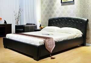 Greatime B Queen Black Modern Platform Bed