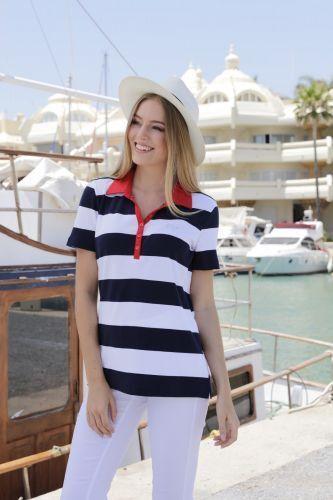 Estefania for woman, maritimes Poloshirt