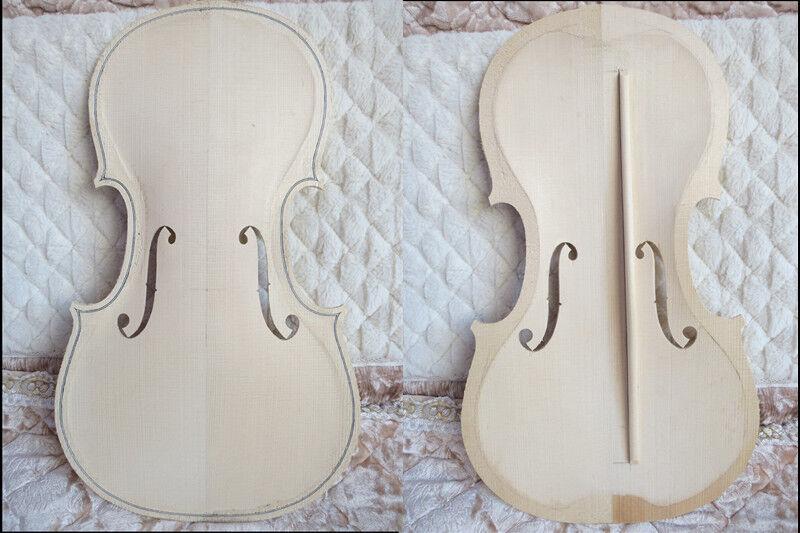 Violín Violín Violín 4 4 vieja abeto superior la mitad terminó con incrustaciones de filete de violín bajo bar, 943698
