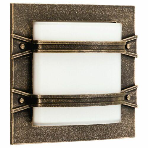 Wandleuchte Deckenleuchte Aluminium antik braun E27 Hauseingang