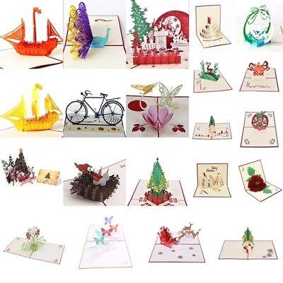 pop up weihnachtskarten geburtstag gl ckwunschkarte 3d. Black Bedroom Furniture Sets. Home Design Ideas