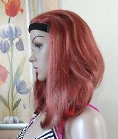 Sam Sung 130 Copper Red Straight Hair W Black Headband Full Wig W Bangs,cindy