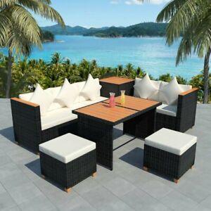 vidaXL-22-Piece-Outdoor-Dining-Set-Wicker-Poly-Rattan-WPC-Garden-Lounge-Seat