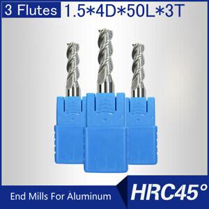 HRC45-3-Flutes-1-5MM-Solid-Carbide-End-Mills-For-Aluminum-L-50MM