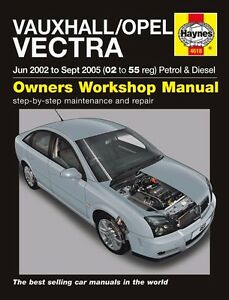 haynes owners workshop manual holden vectra petrol diesel 02 05 rh ebay com au holden vectra 2001 manual pdf holden vectra workshop manual