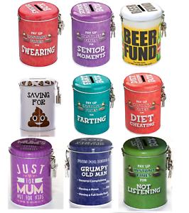 Novelty-Fine-Tins-Fun-Money-Storage-Lockable-Piggy-bank-Savings-Christmas-Gift