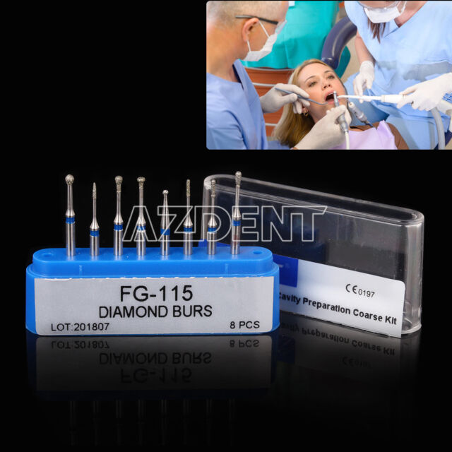 Dental Turbine Minimally Invasive Cavity Coarse FG Diamond Burs FG-116