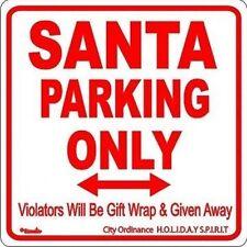 Santa Claus Parking Christmas Holiday Novelty Sign