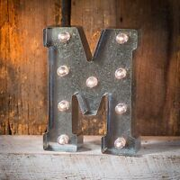 Marquee Letter Light-up Silver Metal Letter Features Marquee Lights A-z Choose