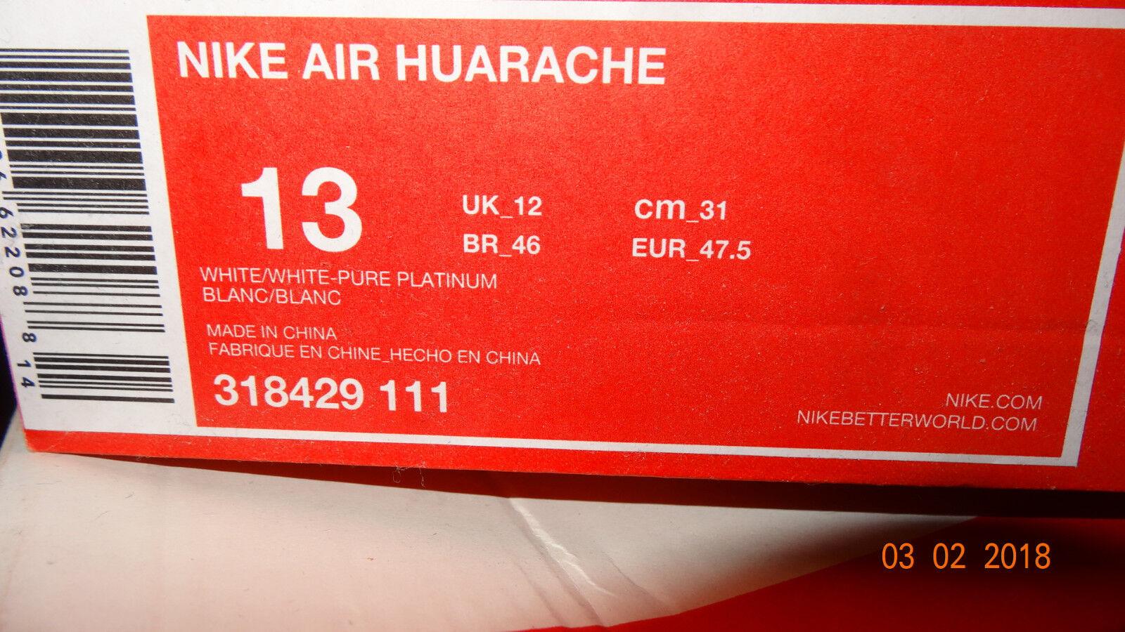 Nike Air Huarache weiß/weiß/platinTriple White weiss 47,5 47.5 47.5 47.5 13 dd1d7d