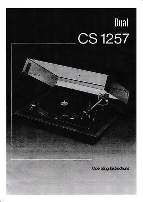 Tv, Video & Audio Bedienungsanleitung-operating Instructions Für Dual Cs 1257