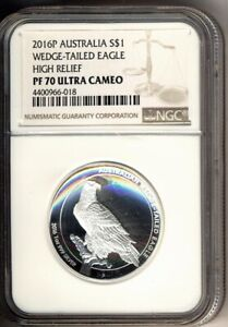 2016-P-1-ounce-AUSTRALIA-WEDGE-TAILED-EAGLE-SILVER-1-PERFECT-NGC-PF70