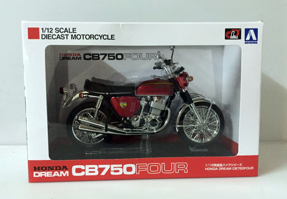 Rare  Aoshima Honda Dream CB750Four (KO) 1 12 Scale DieCast Motorcycle Red Japan