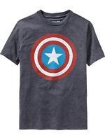 Old Navy Superhero Boys Marvel Comics Captain America Tees T-shirt Boy