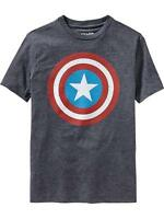 Old Navy Superhero Boys Marvel Comics Captain America Tees T-shirt Boy