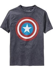 35dd302b871 NWT Old Navy Superhero Boys Marvel Comics Captain America Tees T ...