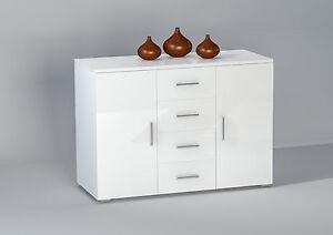 kommode pedro wei glanz schrank anrichte highboard. Black Bedroom Furniture Sets. Home Design Ideas