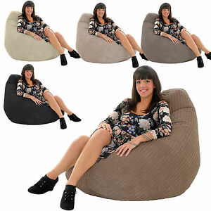JUMBO-CORDUROY-Gamer-Chair-Bean-Bag-Highback-Gaming-Beanbag-Seat-lounger-Gilda
