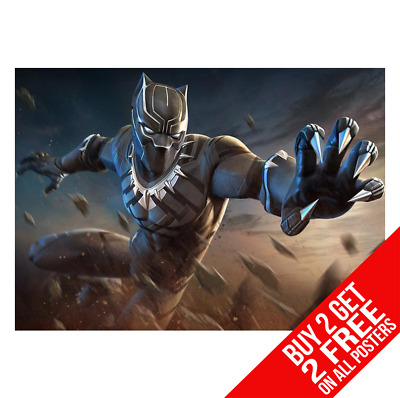 BLACK PANTHER POSTER BB9 AVENGERS INFINITY WAR A4 A3 SIZE BUY 2 GET ANY 2 FREE