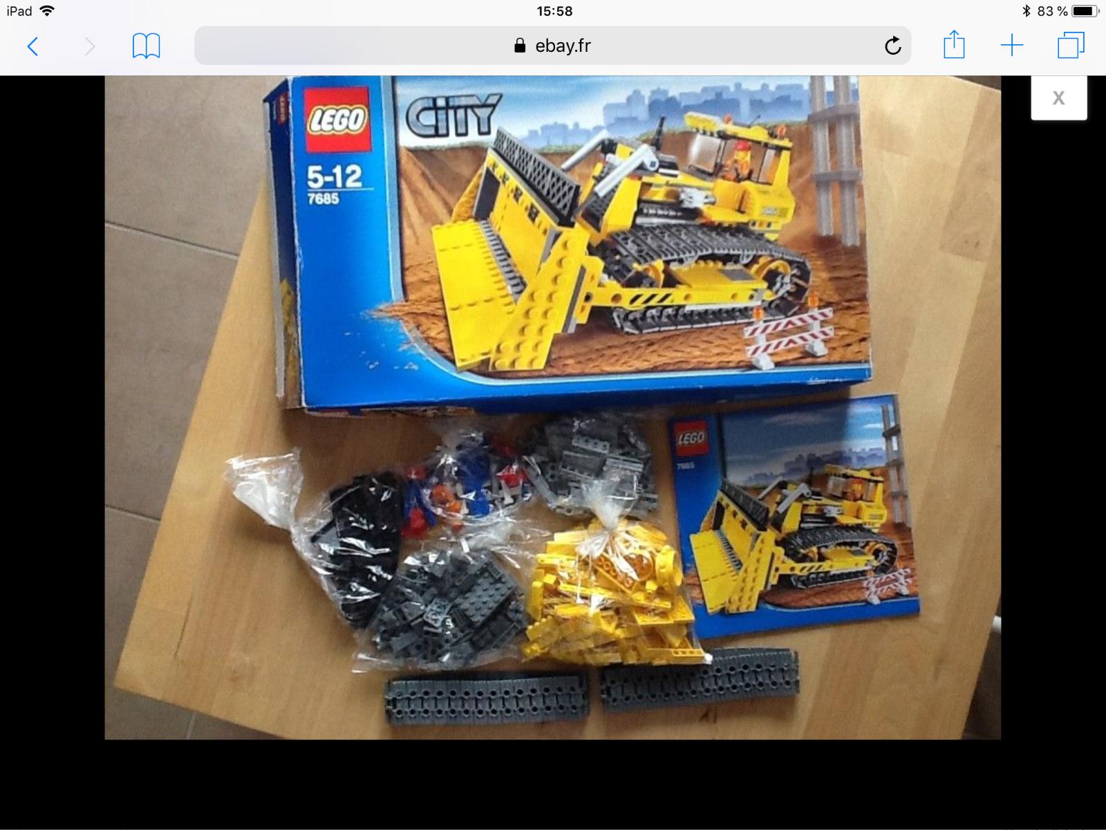 BOÎTE LEGO CITY N°7685. COMPLET