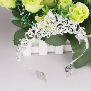 Princess-Crystal-Prom-Hair-Tiara-Wedding-Bridal-w-Comb-Pin-Crown-Veil-Headband