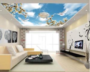 3D Sun Flowers Birds 7 Ceiling Wall Paper Print Wall Indoor Wall Murals CA Lemon