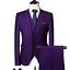 miniature 5 - Mens Suits Sets 3 Pcs Slim Fit Coats Tuxedos Groom Groomsman Formal Work Casual
