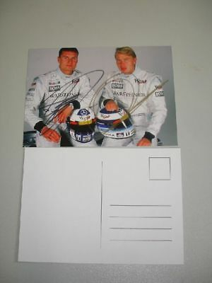 COULTARD /& HAKKINEN MCLAREN MERCEDES SIGNED 1998 F1 RARE PROMO POSTCARD 10x15