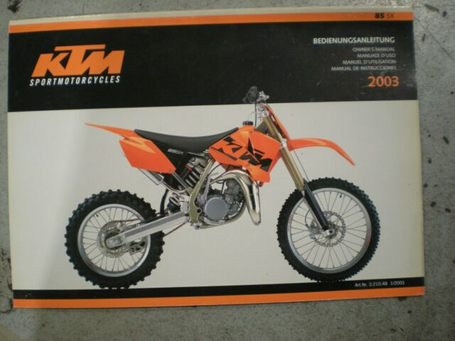2003 Ktm 85 Sx Owners Manual