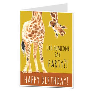 Das Bild Wird Geladen Lustige Geburtstagskarte Fuer Ihm Ihre Lets Party Betrinken