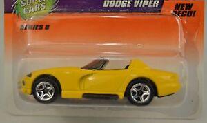 Matchbox-Super-Cars-Yellow-Dodge-Viper-Car-Die-Cast-1-64-1998-56-Series-8-New