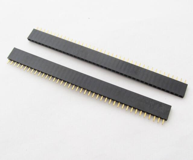 "10pcs 40Pin Female Jack IC Single Row Flat Header Socket 2.54mm/0.1"""