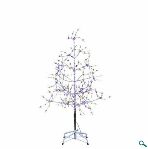 New Philips LED USB Powered Desktop green  Tinsel Tree with multi Lights