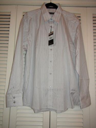 No gris la Zagiri 100 2158 parar raya vestir puedes de Nwt de el blanco algodón W Camisa Hombres Kms wtzqdTPP
