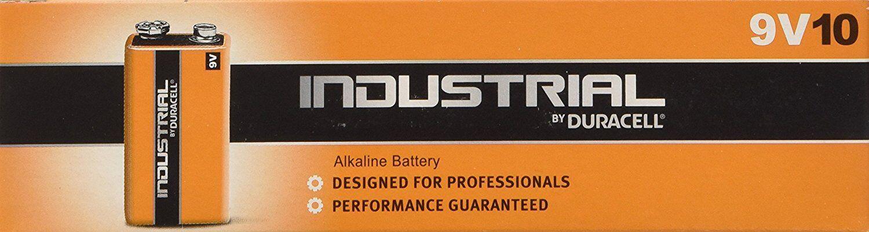 10 x Duracell 9V PP3 Industrial Procell Batteries, Smoke Alarm, LR22 BLOC MN1604
