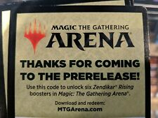 MAGIC MTG Arena Code 6 Boosters Packs Zendikar Rising Prerelease Instant Message