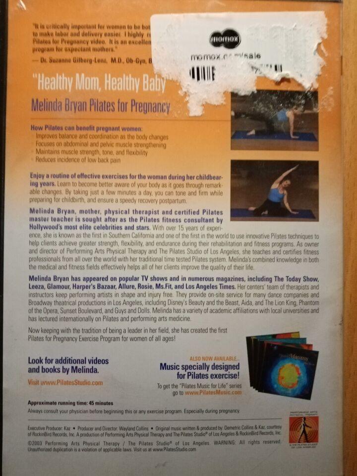 Pilates for pregnancy, instruktør Melinda Bryan, DVD