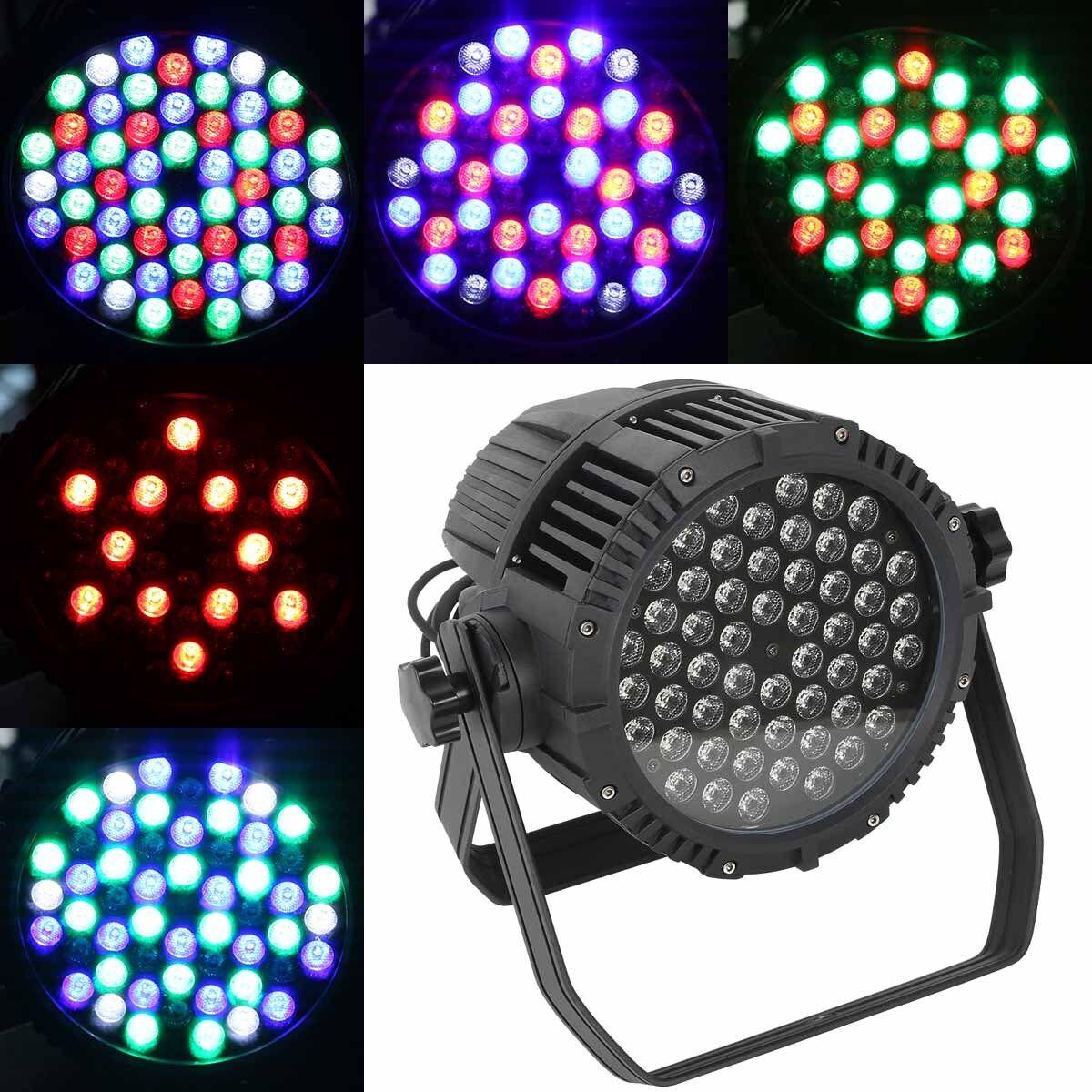 Waterproof IP65 DJ PAR 64 54x3W LED LIGHTING RGBW DMX512 STAGE PARTY SHOW