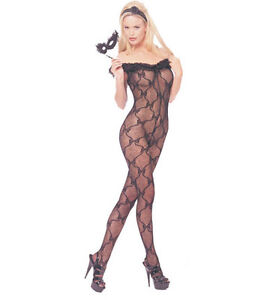 LEG-AVENUE-Bow-lace-Open-Crotch-bodystocking-with-ruffle-top-8809