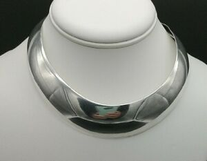 Sterling-Silver-Collar-Necklace-41-grams-Stunning-Kabana-Necklace